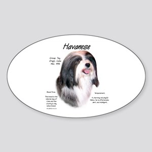 Havanese Sticker (Oval)